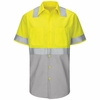 Hi Vis ShortSleeve Workshirt w/Refective Trim - SY24YG