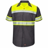 Hi-Visibility Ripstop SS Work Shirts Charcoal -Type O Class 1