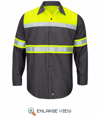 Hi-Visibility Ripstop Work Shirts Charcoal -Type O Class 1