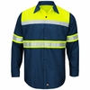 Hi-Visibility Ripstop Work Shirts Navy -Type O Class 1
