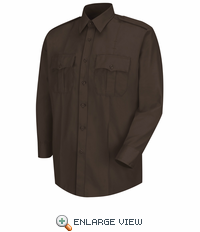 HS1120 Men's Brown  Deputy Deluxe® Long Sleeve Uniform Shirt