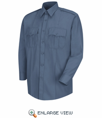 HS1121 Men's French Blue Deputy Deluxe® Long Sleeve Uniform Shirt