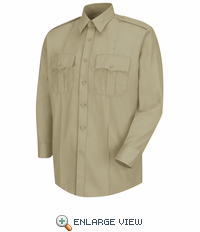 HS1124 Men's Silver Tan Deputy Deluxe® Long Sleeve Uniform Shirt