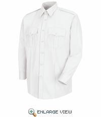 HS1125 Men's White Deputy Deluxe® Long Sleeve Uniform Shirt