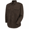 HS1145 Men's Brown Sentry® Plus Long Sleeve Shirt With Zipper