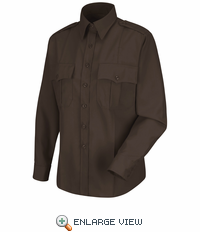 HS1172 Women's Brown  Deputy Deluxe® Long Sleeve Uniform Shirt