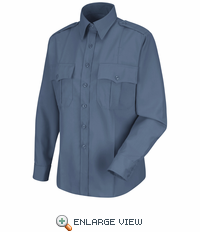 HS1173 Women's French Blue  Deputy Deluxe® Long Sleeve Uniform Shirt