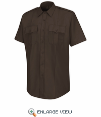 HS1218 Men's Brown  Deputy Deluxe® Short Sleeve Uniform Shirt
