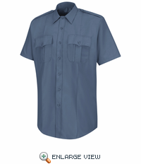 HS1219 Men's French Blue  Deputy Deluxe® Short Sleeve Uniform Shirt