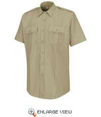 HS1222 Men's Silver Tan  Deputy Deluxe® Short Sleeve Uniform Shirt