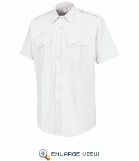 HS1223 Men's White  Deputy Deluxe® Short Sleeve Uniform Shirt