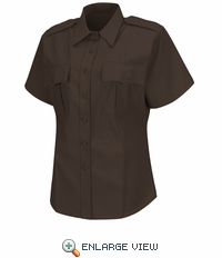HS1273 Women's Brown  Deputy Deluxe® Short Sleeve Uniform Shirt