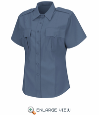 HS1274 Women's French Blue Deputy Deluxe® Short Sleeve Uniform Shirt