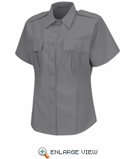 HS1275 Women's Grey Deputy Deluxe® Short Sleeve Uniform Shirt