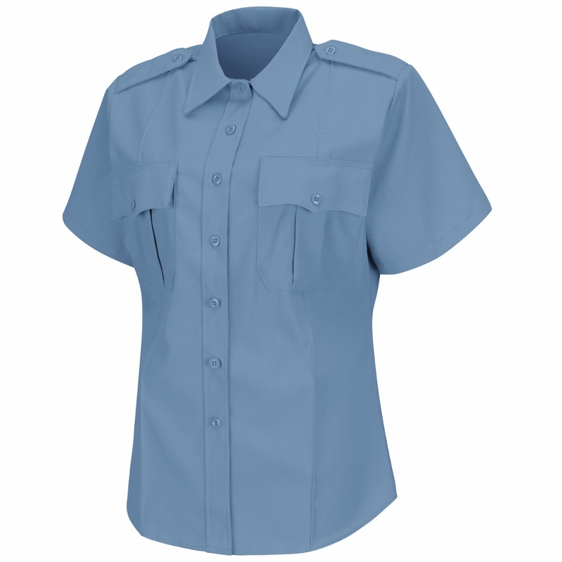 Hs1276 Women 39 S Light Blue Deputy Deluxe Short Sleeve