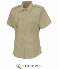 HS1277 Women's Silver Tan Deputy Deluxe® Short Sleeve Uniform Shirt