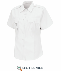 HS1278 Women's White Deputy Deluxe® Short Sleeve Uniform Shirt