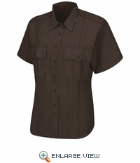 HS1284 Women's Brown Short Sleeve Sentry Plus Shirt