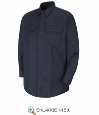 HS1429 New Dimension® Concealed Button Front Long Sleeve Shirt