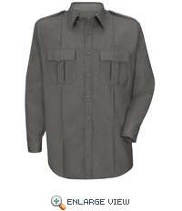 HS1514 Men's Heather Grey Deputy Deluxe® Long Sleeve Uniform Shirt