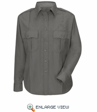 HS1515 Women's Heather Grey Deputy Deluxe® Long Sleeve Uniform Shirt