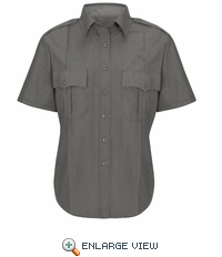 HS1517 Women's Heather Grey Deputy Deluxe® Short Sleeve Uniform Shirt