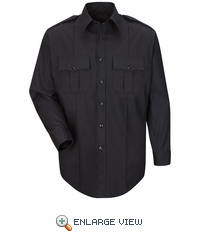 HS1520 New Dimension® Plus Long Sleeve Poplin Shirt