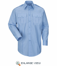 HS1524 New Dimension® Plus Long Sleeve Poplin Shirt