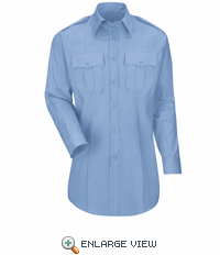 HS1525 New Dimension® Plus Women's Long Sleeve Poplin Shirt