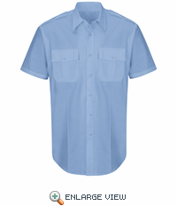 HS1526 New Dimension® Plus Light Blue Short Sleeve Poplin Shirt
