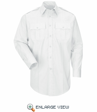 HS1528 New Dimension® Plus Long Sleeve Poplin Shirt