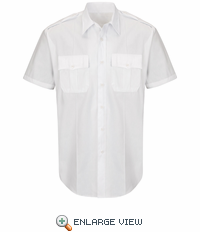 HS1530 New Dimension® Plus White Short Sleeve Poplin Shirt