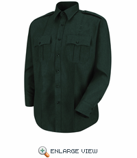 HS1544 Men's Spruce Green Sentry® Plus Long Sleeve Shirt With Zipper
