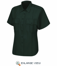 HS1545 Men's Spruce Green Sentry® Plus Short Sleeve Shirt With Zipper