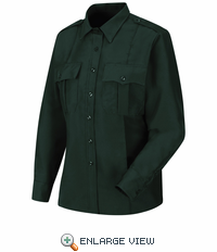 HS1546 Women's Spruce Green Sentry® Plus Long Sleeve Shirt With Zipper