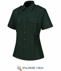 HS1547 Women's Spruce Green Sentry® Plus Short Sleeve Shirt With Zipper