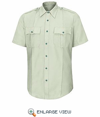 HS1549 Women's New Dimension® Poplin Light Green SS Shirt