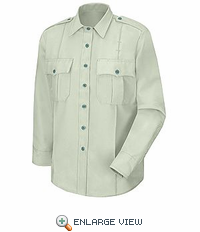HS1551 (Women's New Dimension® Poplin Light Green LS Uniform Shirt