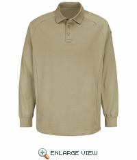 HS5129 Silver Tan Long Sleeve Special OPS Polo