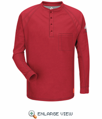iQ Red Long Sleeve Henley QT20RD