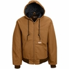 JD20BD Blended Zip Front Brown Duck Hooded Jacket