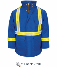 JLPCRB Excel Fire Resistant Royal Blue Parka with CSA Reflective Trim