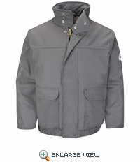 JLR8GY EXCEL- FR™ COMFORTOUCH™ Grey Insulated Bomber Jacket
