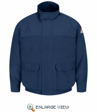 JMJ8NV Navy Lined Bomber Jacket - CoolTouch�- CAT 4