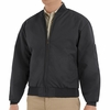 JT38BK Men's Black Perma Lined Solid Team Jacket
