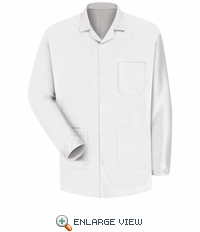 KK26WH Unisex ESD/ANTI-STAT White Counter Jacket
