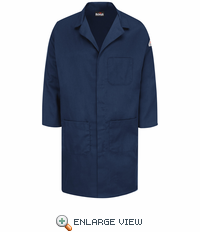 KLL6NV EXCEL FR® Flame-resistant Navy ComforTouch®  Concealed Snap Front Lab Coat