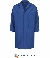 KNL6RB Nomex® IIIA Flame-resistant Royal Blue Concealed Snap Front Lab Coat