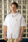 KP44WH Men's White Zippered Smock