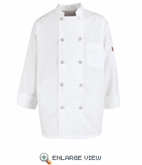 KV30WH Whiite Vented Back Chef Coat